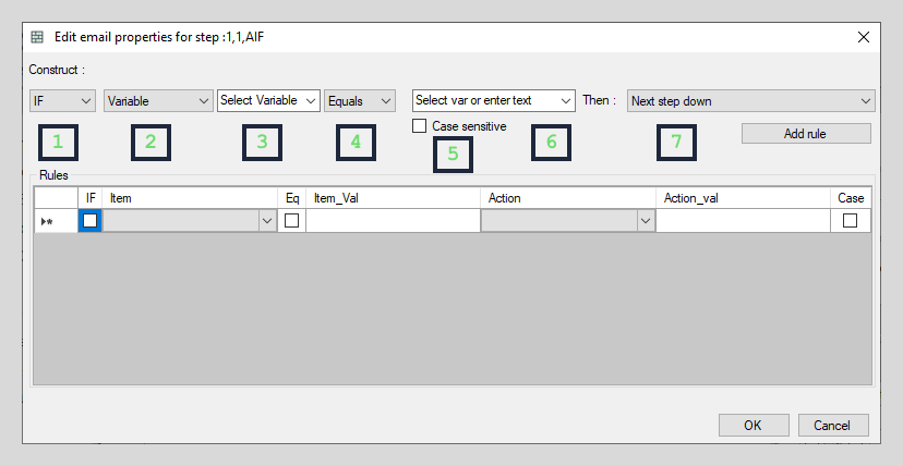 Variable based interface elements