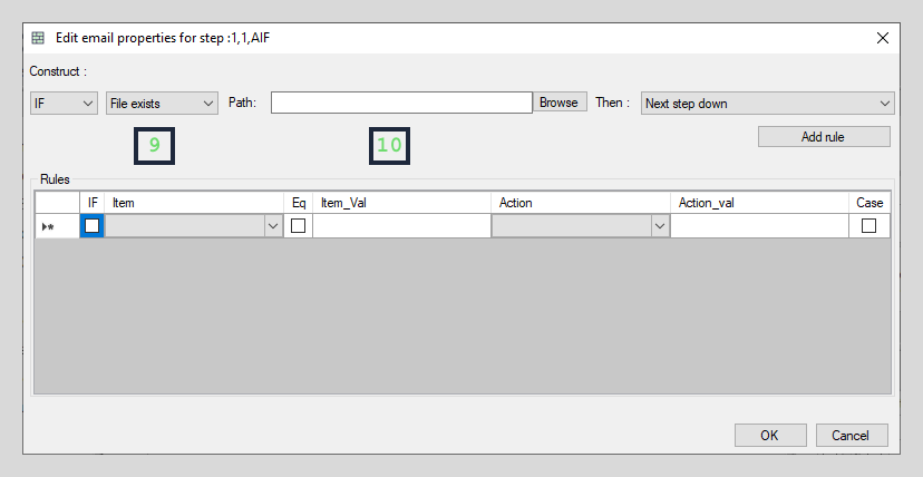 File path based interface elements