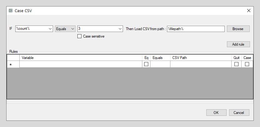 Case CSV example